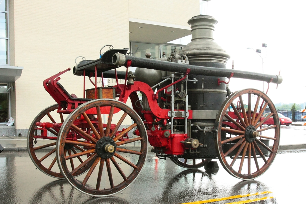 Picture of steam fire engine
